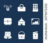 premium set with fill icons.... | Shutterstock .eps vector #1075672232
