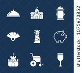 premium set with fill icons.... | Shutterstock .eps vector #1075673852