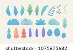 gradation fantasy color leaves... | Shutterstock .eps vector #1075675682