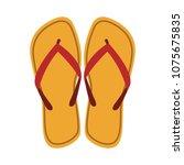 flip flops sandals | Shutterstock .eps vector #1075675835
