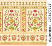 floral ornamental pattern in...   Shutterstock .eps vector #1075677128