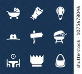 premium set with fill icons....   Shutterstock .eps vector #1075678046