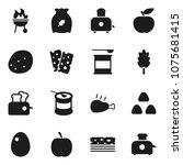 flat vector icon set   toaster... | Shutterstock .eps vector #1075681415