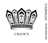 crown logo abstract design... | Shutterstock .eps vector #1075688312