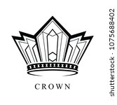 crown logo abstract design... | Shutterstock .eps vector #1075688402
