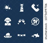 premium set with fill icons.... | Shutterstock .eps vector #1075699706