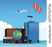 travel around the world | Shutterstock .eps vector #1075702736