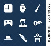 premium set with fill icons.... | Shutterstock .eps vector #1075705016
