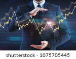 businessman with abstract...   Shutterstock . vector #1075705445