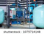 modern water filtration and... | Shutterstock . vector #1075714148