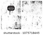 grunge textures set.collection... | Shutterstock .eps vector #1075718645