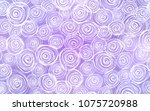 Stock vector light purple vector doodle blurred background roses on elegant natural pattern with gradient the 1075720988