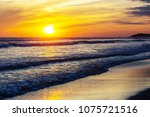 scenic colorful sunset at the... | Shutterstock . vector #1075721516
