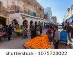 morocco essaouira 20.10.2018  ... | Shutterstock . vector #1075723022