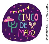 banner or card for cinco de... | Shutterstock .eps vector #1075726352