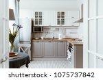scandinavian interior design.... | Shutterstock . vector #1075737842