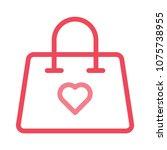 hand bag purse like    Shutterstock .eps vector #1075738955