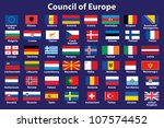 set of council of europe flags... | Shutterstock .eps vector #107574452