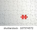 Missing Piece In Puzzle  Closeup