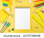 top view of modern bright...   Shutterstock . vector #1075748948