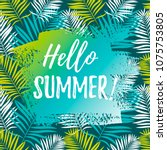hello summer banner. place for... | Shutterstock .eps vector #1075753805
