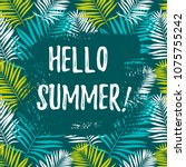 hello summer banner. place for... | Shutterstock .eps vector #1075755242