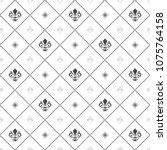seamless vector pattern. modern ... | Shutterstock .eps vector #1075764158