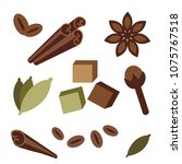 natural organic spices icons....   Shutterstock .eps vector #1075767518