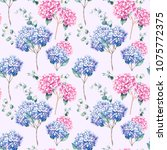 watercolor seamless pattern... | Shutterstock . vector #1075772375