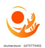 hands logo kid adults vector ... | Shutterstock .eps vector #1075775402
