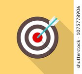 colored flat circle with arrow... | Shutterstock .eps vector #1075778906