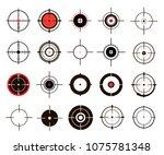a set of sights  sniper... | Shutterstock .eps vector #1075781348