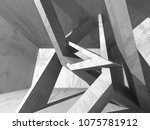 abstract geometric concrete...   Shutterstock . vector #1075781912