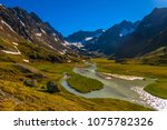 small stream running from the... | Shutterstock . vector #1075782326