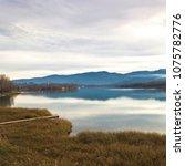 beautiful landscape  banyoles ... | Shutterstock . vector #1075782776