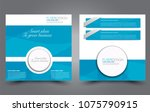 square flyer template. simple... | Shutterstock .eps vector #1075790915