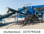 plastic recycling facility... | Shutterstock . vector #1075794218
