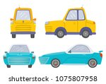 set of two car front and side... | Shutterstock .eps vector #1075807958