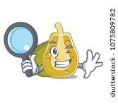 detective jackfruit character... | Shutterstock .eps vector #1075809782