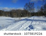 winter landscape russia moscow... | Shutterstock . vector #1075819226