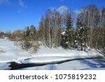 winter landscape russia moscow... | Shutterstock . vector #1075819232