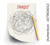 tangle scrawl sketch vector.... | Shutterstock .eps vector #1075826012