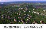 aerial. chernobyl disaster... | Shutterstock . vector #1075827305