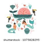 hand drawn vector cartoon...   Shutterstock .eps vector #1075828295