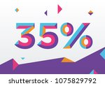35  percent off  sale... | Shutterstock .eps vector #1075829792
