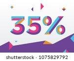 35  percent off  sale... | Shutterstock .eps vector #1075829792
