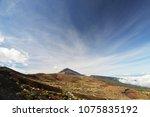 sky above top of the volcano.... | Shutterstock . vector #1075835192