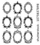 vintage mirror frames set....   Shutterstock .eps vector #1075837898