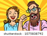 couple man and woman. anger and ... | Shutterstock .eps vector #1075838792
