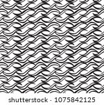 tileable sinuous warp op shape... | Shutterstock .eps vector #1075842125